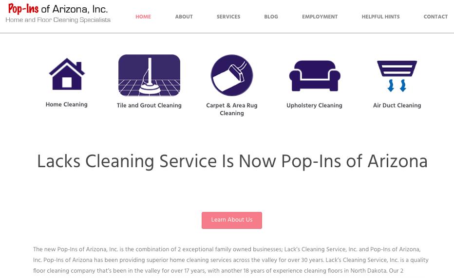 Pop-ins of arizona website - custom designed icons